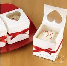 where to buy a cake box 12pcs clear heart pvc window paper single cupcake cake box wedding