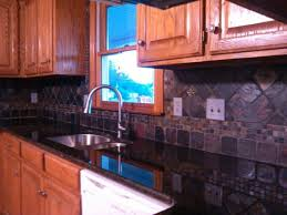 Small Kitchen Remodel Featuring Slate Tile Backsplash by 41 Best Uba Tuba Granite Images On Pinterest Kitchen Ideas