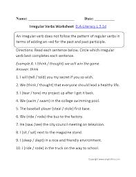 second grade verb worksheets worksheets