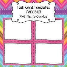 task card templates freebie frames borders to overlay by lovin lit