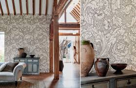 Interior Wallpaper Pure Wallpapers Collection By Morris U0026 Co Monochrome Wallpapers