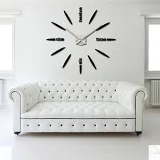 diy large watch wall clock decor modern design stickers mirror