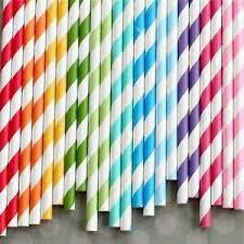 paper straws 25 retro stripe dot heart vintage paper straws buy