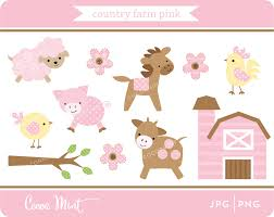 country farm pink clip art zoom