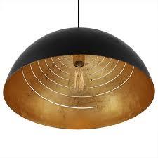 black dome pendant light devotion black gold leaf spiral dome pendant lights