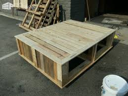 pallet queen size bed u2022 1001 pallets