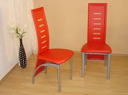 Esszimmerst Le Orange 2 X Stuhl Stühle Stuhlset Esszimmerstühle Kunstleder Schwarz Rot