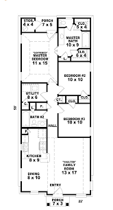floor1 floor house plans for narrow lots hannafield lot home plan