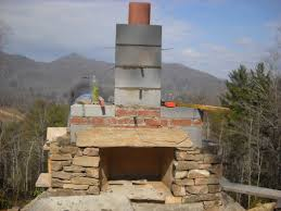 fireplace simple outdoor fireplace plans