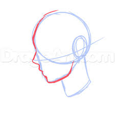 6 side view male anime face drawing tutorial