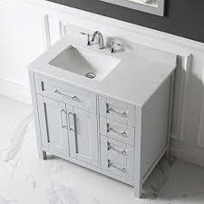 36 Inch Bathroom Sink Top Ove Decors Tahoe 36g Marble Top Single Bathroom Sink Vanity 36