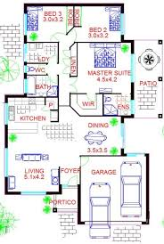 3 Bedroom Floor Plans With Garage Narrow Lot House Plan 3 Bed 2 Bath Double Garage 3 Bedroom