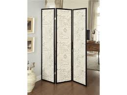 screen room divider old french script espresso 3 panel folding screen