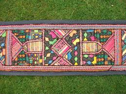 wall decor home decor home living indian handmade embroidered tapestry wall hanging table runner vintage fabric upcycled