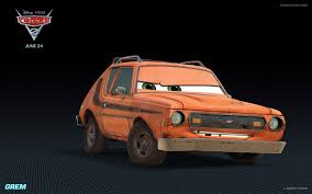 orange cars grem pixar wiki fandom powered by wikia
