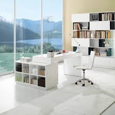 Modern Office Desks S005 Modern Office Desk In White Wenge