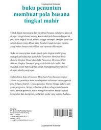 dasar membuat pola baju ebook download buku penuntun membuat pola busana tingkat mahir indonesian edition