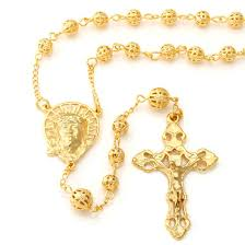 all gold rosary necklace images 14k gold jesus piece and crucifix cross rosary necklace i hip hop jpeg