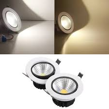 Recessed Ceiling Light Fixtures 15w Dimmable Cob Led Recessed Ceiling Light Fixture Down Light Kit