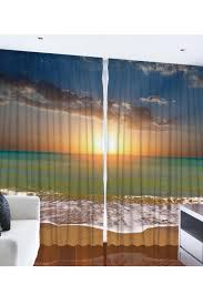 Large Window Curtains by Tropical Beach Sunset Large Window Curtain Set Of Two 54 X 90