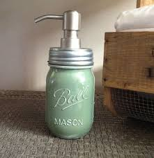 mason jar sage green soap dispenser bath accessories farm