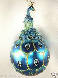 peacock decorations tree decorating ideas 23