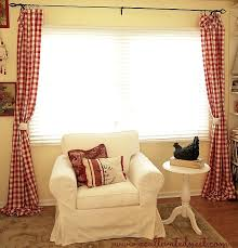 Simple Curtains For Living Room My New Red Buffalo Check Living Room Curtains A Cultivated Nest