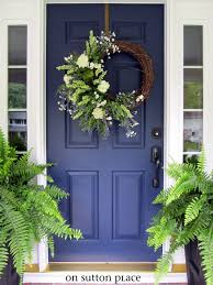 my new blue front door on sutton place