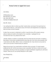 sample formal sick leave letters 5 examples in word pdf