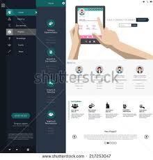 website menu design design menu website creative web design stock vector 217253047