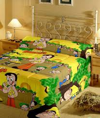 Cotton Single Bed Sheets Online India Renown Chotabheem Angry Birds Princess Barbie Poly Cotton