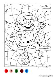 Coloriage Magique Petit Lutin Pour Noel dessin