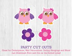 cute owl cut outs pink owl cut outs owl baby shower owl