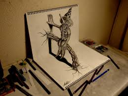 how to make 3d drawing how to draw 3d art on paper step by step tutorial