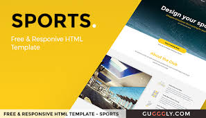 one page free website template u2013 sports gugggly