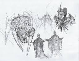 ungoliant and morgoth sketch by brokenmachine86 on deviantart