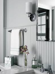 gray beadboard bathroom trim cottage bathroom