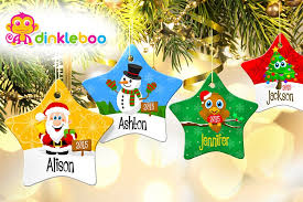 scoopon personalised porcelain christmas tree star ornament