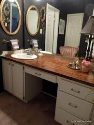 Hate Your Countertops DIY Salvaged Wood Countercheap And So - Bathroom countertop design