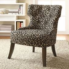 Animal Print Accent Chair Remarkable Animal Print Accent Chairs With Lovable Leopard Print
