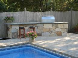 island how to build a stone outdoor kitchen custom outdoor