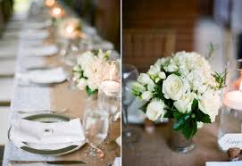 white flower centerpieces rustic wedding floral ideas