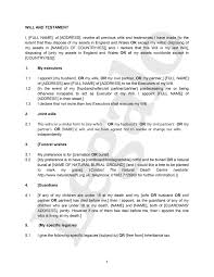 Template Wills by Mirror Wills Template For Creating A Pair Of Joint Wills
