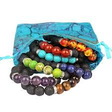 bracelet natural stones images Yission 7 pack gemstone bracelet natural stones stretch bracelets jpg