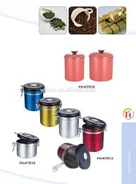 household product stainless steel coffee kitchen canister view