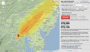 Washington Dc On A Map by The Nukemaps Are Here Restricted Data