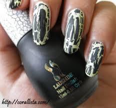 laushine instant crackling nail polish no 20 black review