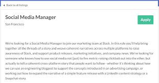 Hr Help Desk Job Description Social Media Manager Job Description Guide Tips Templates And