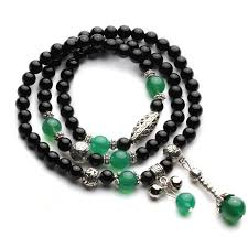 black jade necklace images Buddhist black jade green agate mala bracelet mindyana perfect jpg