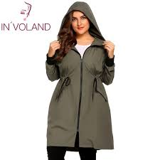 plus size light jacket in voland women raincoat jacket plus size xl 5xl hooded long sleeve